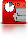 10 Minuten einwirken lassen (Sofa)